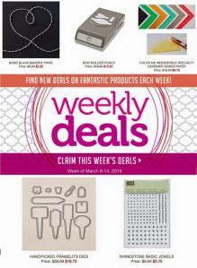 3-8-16 Weekly Deals